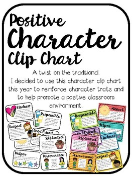 Positive Character Clip Chart Behavior System