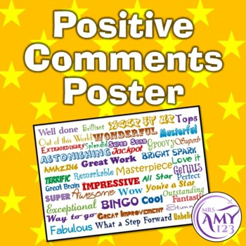 Positive Comments Poster (for Teachers)
