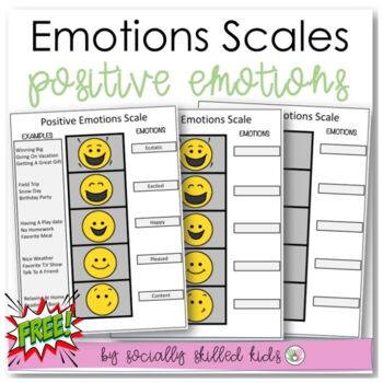 SOCIAL SKILLS: Positive Emotions Scale~FREE