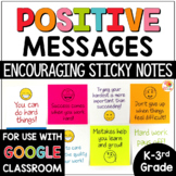 Positive Messages Sticky Notes (lower grade version)