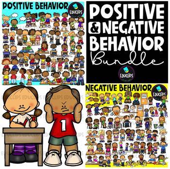 Positive & Negative Behavior Clip Art Big Bundle