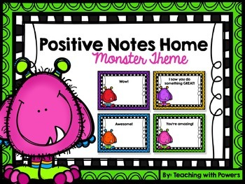 Positive Notes Home - Monster Theme