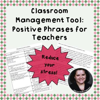 Positive Phrases for Teachers