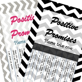 Positive Promises - Counselor wall sign - 5 designs Chevro