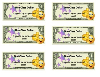 Positive Reinforcement: Class Dollar System