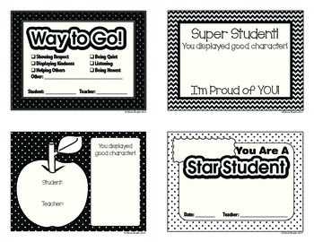 Positive Reinforcement Slips - Character