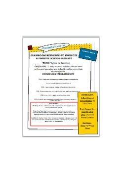 Positive School Climate Newsletter-Tattling vs. Reporting