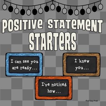 Positive Statement Starters