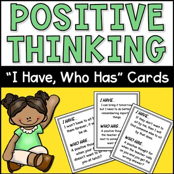 """Positive Thinking CBT """"I Have, Who Has"""""""