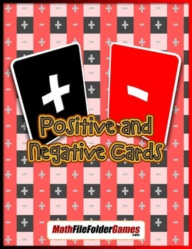 Positive and Negative Cards {Integer Game}
