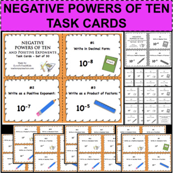 Positive and Negative Exponents Powers of 10 Review Task C