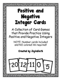 Positive and Negative Integers: A Set of Card Games