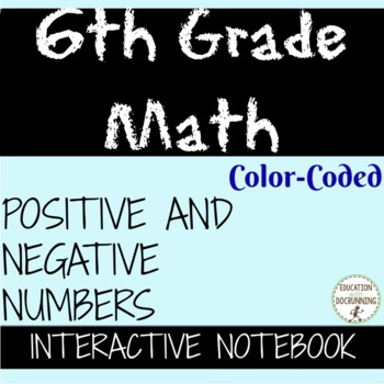 Positive and Negative Numbers Interactive Notebook Notes a