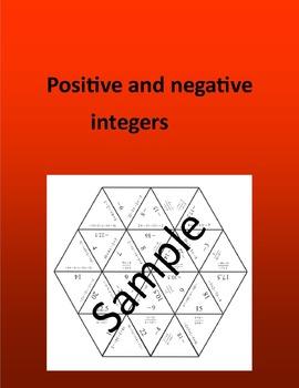 Positive and negative integers -  PEMDAS - math puzzle