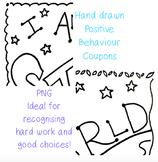 Positive behaviour coupons