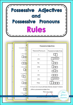 Possessive Adjectives and Possessive Pronouns Rules