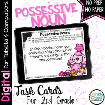 Possessive Noun Digital Task Cards for Google Use