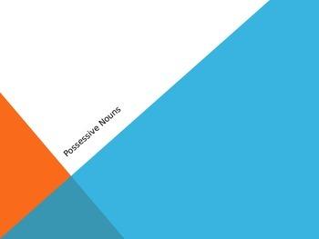 Possessive Noun Powerpoint-Singular Possessive