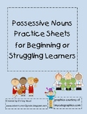 Possessive Noun Practice Sheets