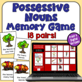 Possessive Nouns Concentration Game (singular and plural)
