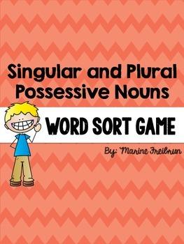 Possessive Nouns Sorting Activity