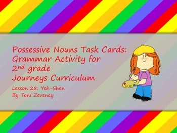 Possessive Nouns Task Cards for Journeys Grade 2
