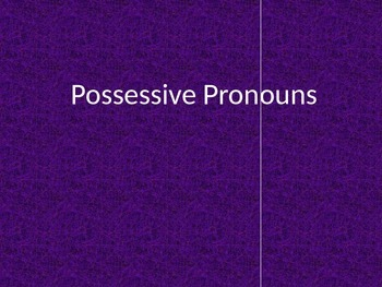 Possessive Pronoun Practice