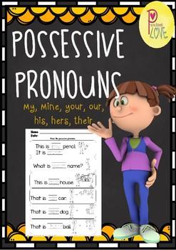 Possessive Pronouns FREE