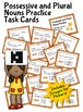 Possessive and Plural Nouns Task Cards (with Images for Plickers)