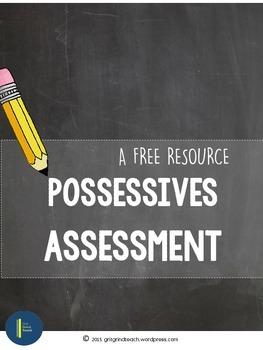 Possessives Asssessment FREE