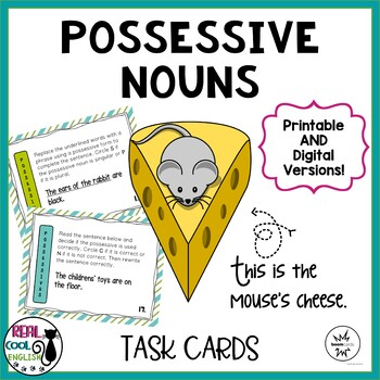 Apostrophes with Possessive Nouns Task Cards