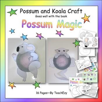 Possum Magic Craft Activity - Koala & Possum Craft