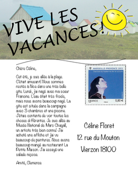 Post Card Project: VIVE LES VACANCES