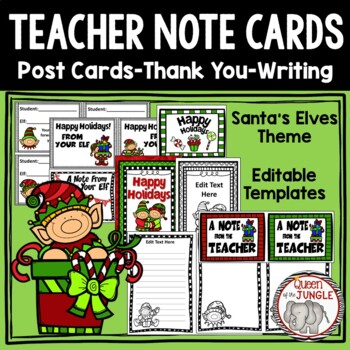 Christmas Writing Templates: Post Cards, Note Cards, Task