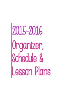 Post It Lesson Plan Book 2015-2016 Pink/Magenta