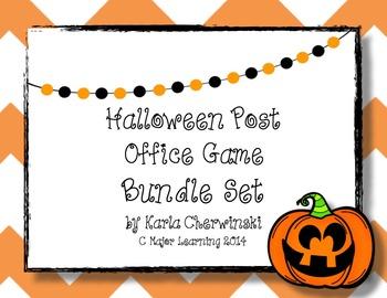 Post Office Game Bundled Set - Halloween Theme