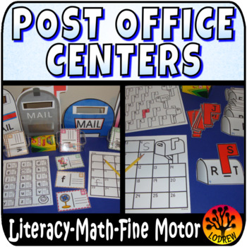 Post Office Mail Centers Activities Math Literacy Rhyming