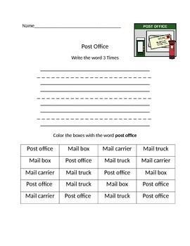Post Office Word Work