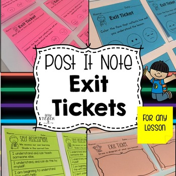 Post it Note EXIT TICKETS for any subject