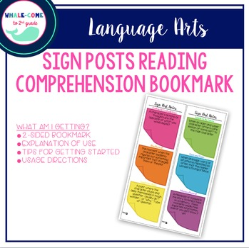 Post-it Reading Comprehension Bookmark