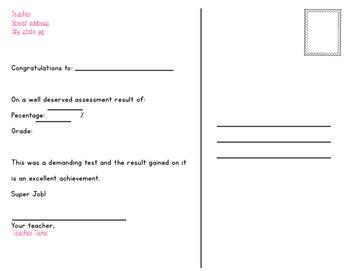 Postcard - Notice of Exam