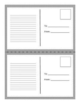 Postcard Formative Assessment