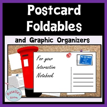 FREE Postcard Foldables and Graphic Organizers