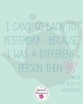 Poster: Alice in Wonderland Quote