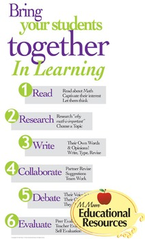 Poster ~ Bring Students Together for Learning ~ Math, Read