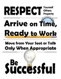 Poster Classroom Rules - Middle School