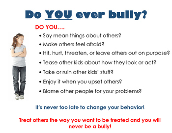 Poster: Do You Bully?