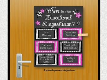 Educational Diagnostician Office Door Sign Special Educati
