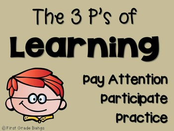 Poster FREEBIE- The 3 P's of Learning