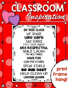 Poster Freebie: {In This Class} Motivating Words for Stude